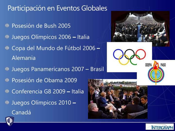 Posesión de Bush 2005