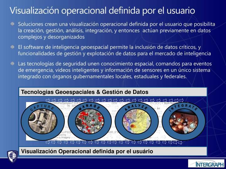 Visualización operacional definida por el usuario