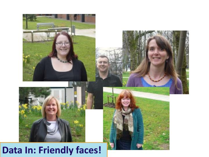Data In: Friendly faces!