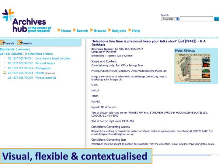 Visual, flexible & contextualised