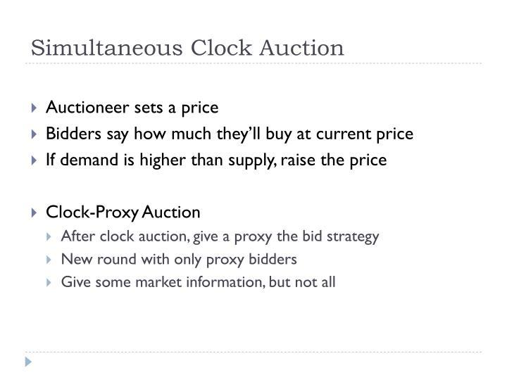 Simultaneous Clock Auction