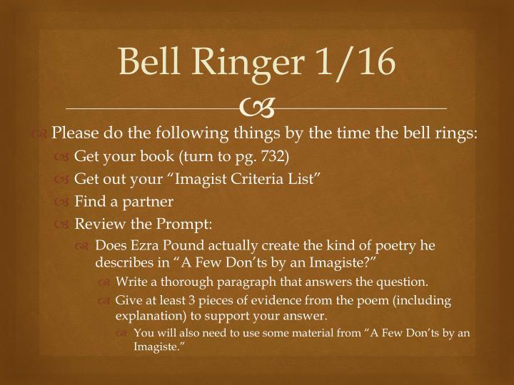 Bell Ringer 1/16