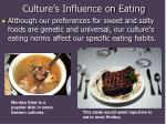 culture s influence on eating