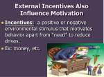 external incentives also influence motivation