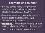 learning and hunger
