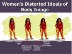 women s distorted ideals of body image