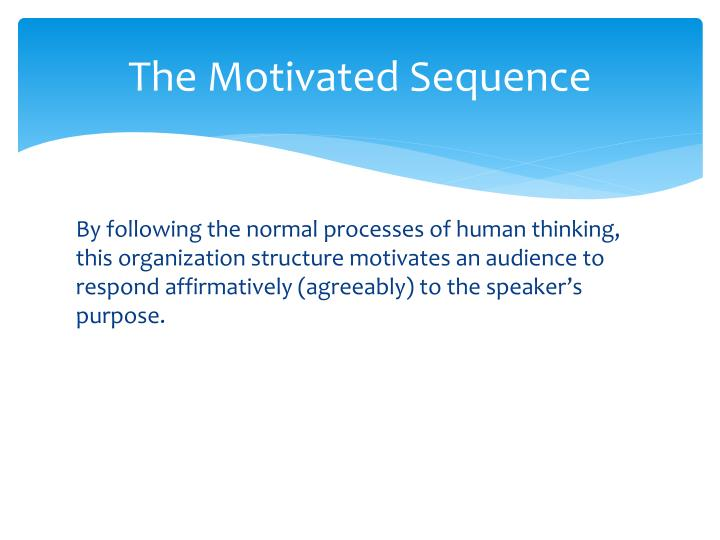 The motivated sequence