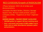 red clydeside growth of radicalism