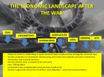 the economic landscape after the war