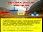 the political landscape after the war