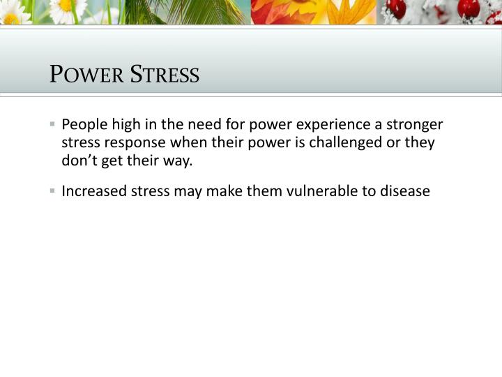 Power Stress