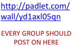 http padlet com wall yd1axl05qn every group should post on here
