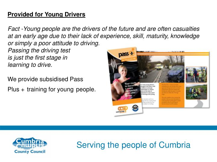 Provided for Young Drivers