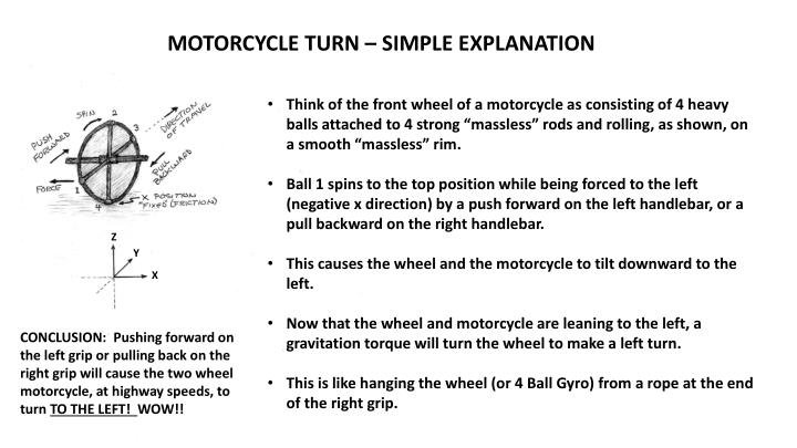 MOTORCYCLE TURN – SIMPLE EXPLANATION