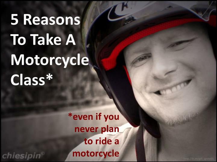 5 reasons to take a motorcycle class