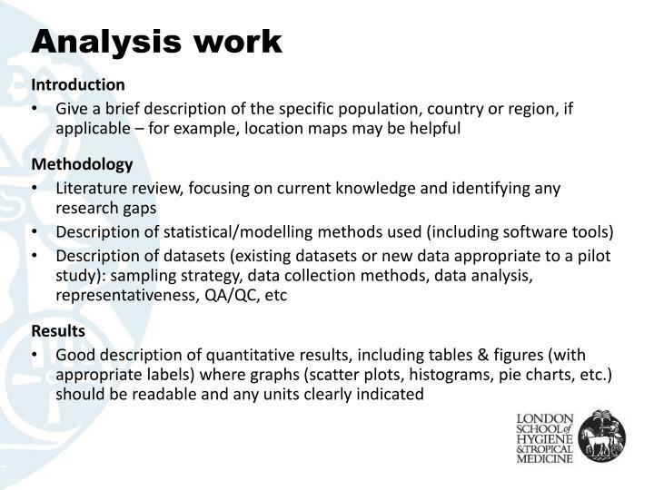 Analysis work