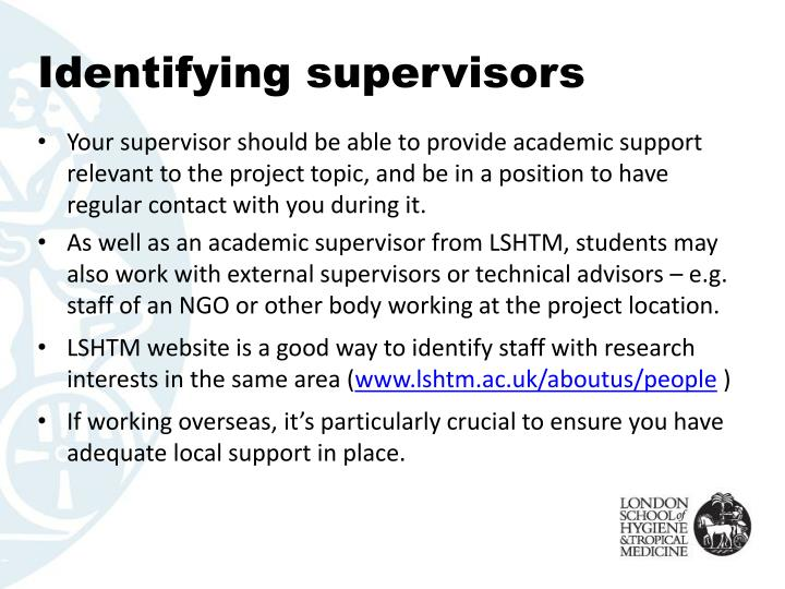 Identifying supervisors