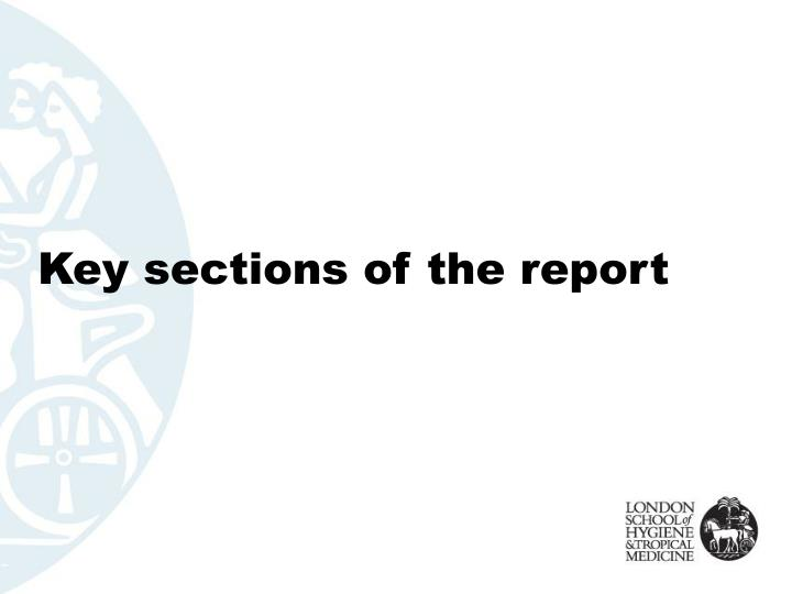 Key sections of the report