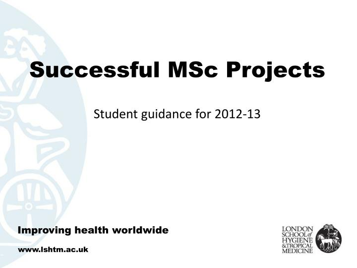 successful msc projects