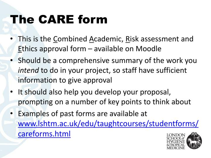 The CARE form