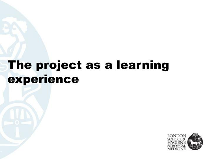 The project as a learning experience