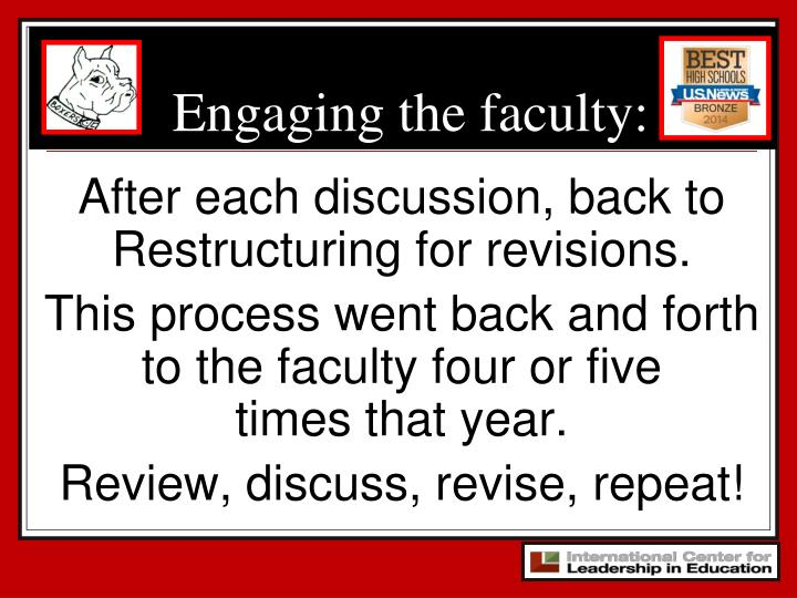Engaging the faculty: