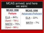 mcas arrived and here we were