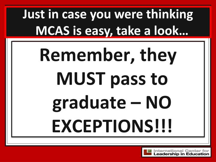 Just in case you were thinking MCAS is easy, take a look…