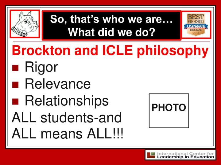 Brockton and ICLE philosophy