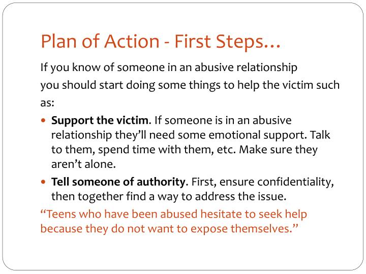 Plan of Action - First Steps…