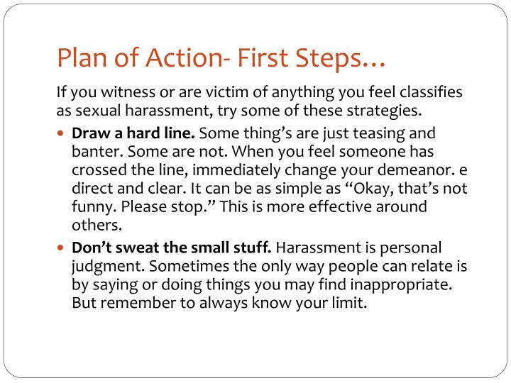 Plan of Action- First Steps…