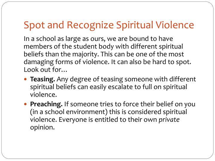 Spot and Recognize Spiritual Violence
