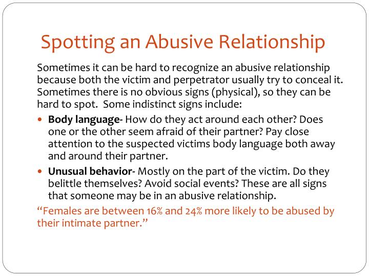 Spotting an Abusive Relationship