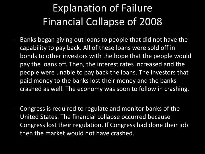 Explanation of Failure