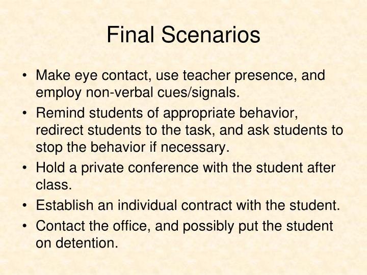 Final Scenarios