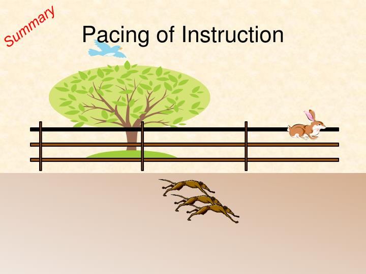 Pacing of Instruction