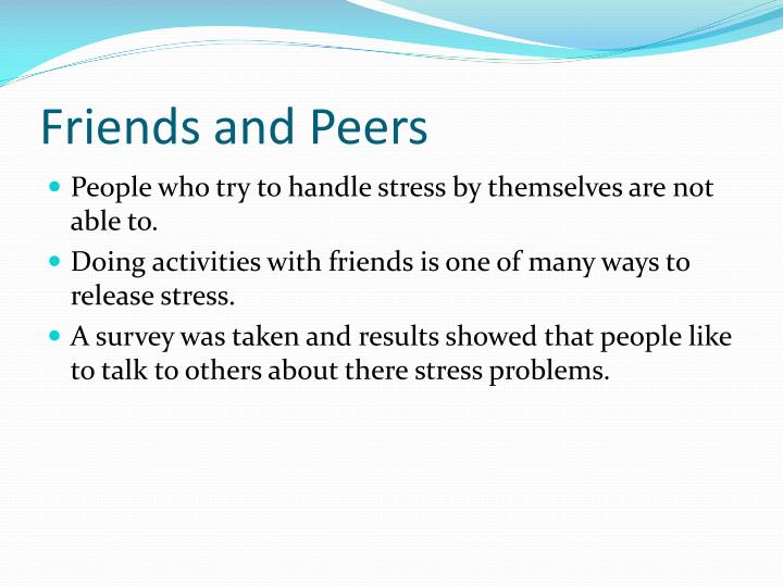 Friends and Peers