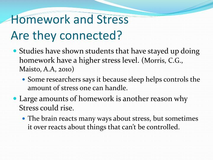 Stress And Homework