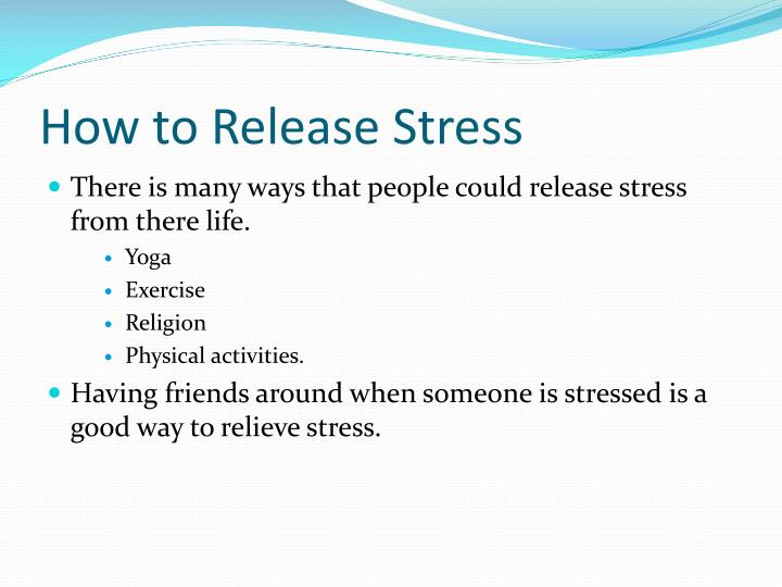 How to Release Stress