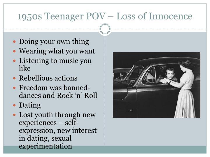 1950s Teenager POV – Loss of Innocence