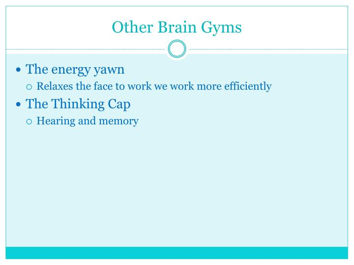 Other Brain Gyms