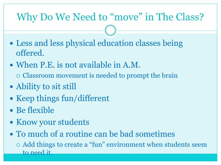"Why Do We Need to ""move"" in The Class?"