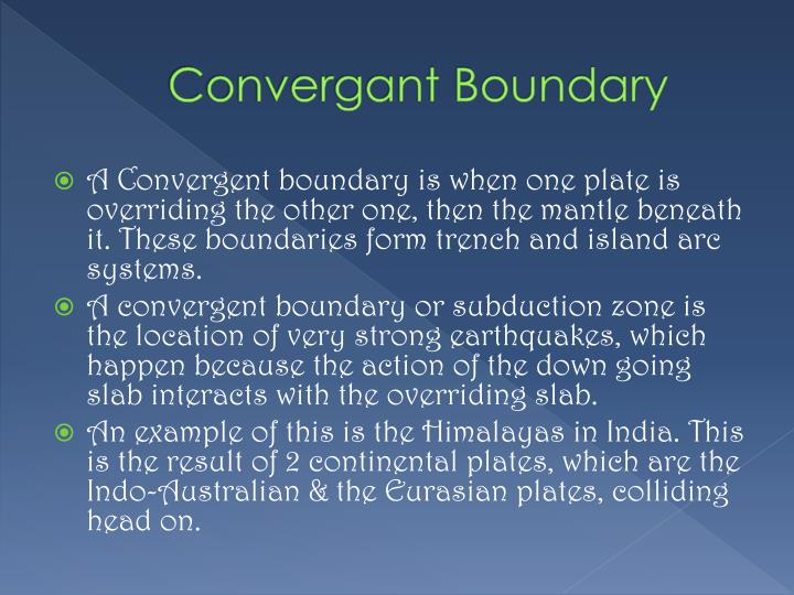 Convergant Boundary