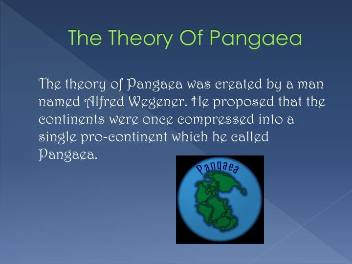 The Theory Of Pangaea