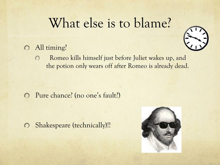 What else is to blame?