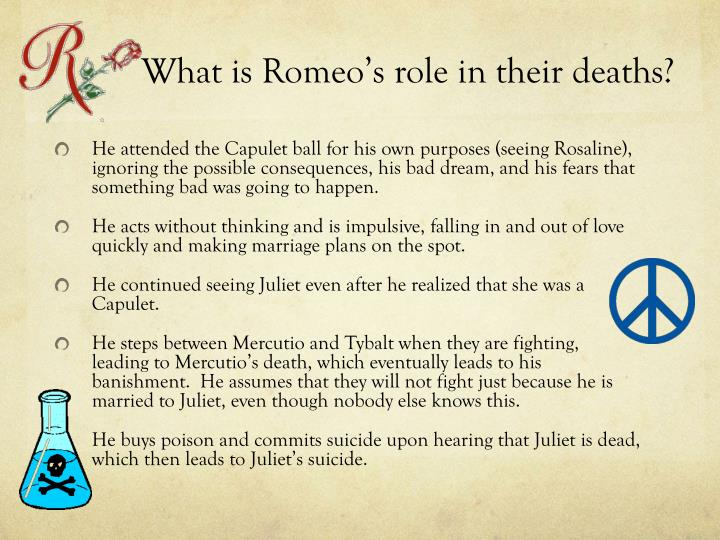 What is Romeo's role in their deaths?