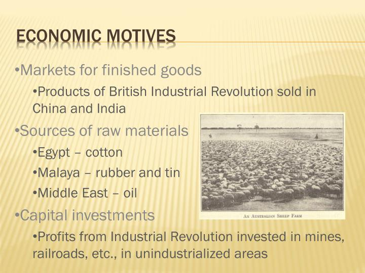 Economic Motives