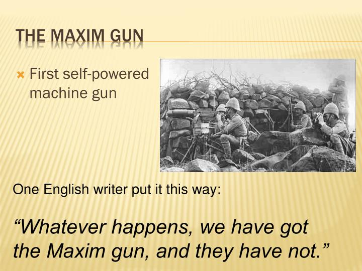 First self-powered machine gun