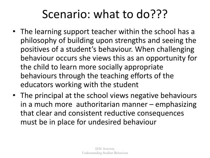 Scenario: what to do???