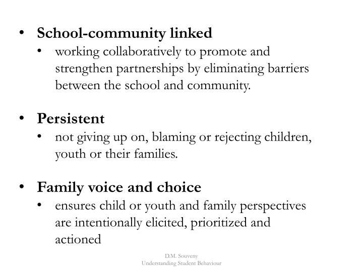 School-community linked